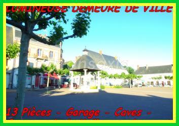 VILLE HISTORIQUE IMMEUBLE PIERRE 13 P.Porche. Caves. Garage.