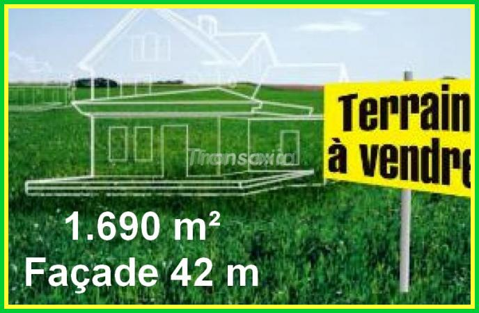 terrain constructible 1690 m²