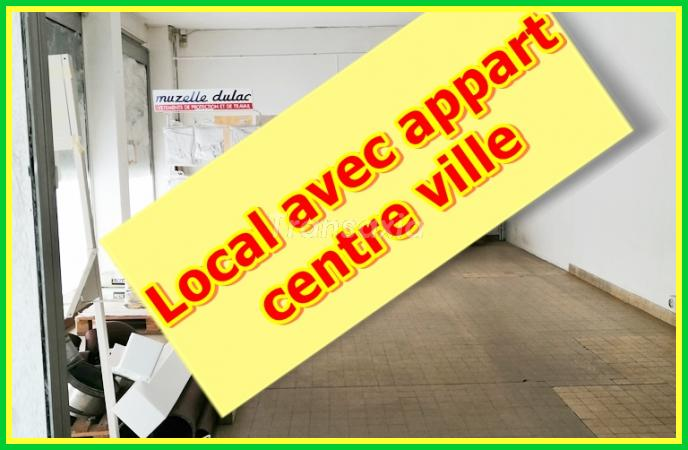 Local commercial avec appart