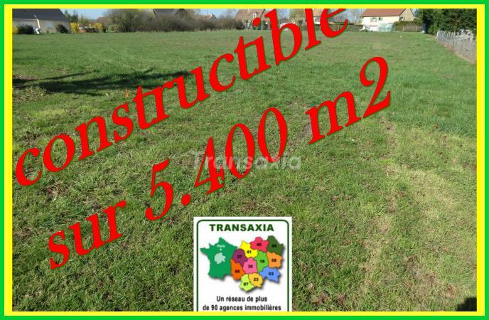 Terrain constructible sur 5.400 m2 à 3 mn de Mehun sur Yèvre.